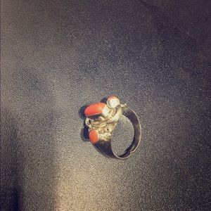 Jewelry - Amazing sterling silver  coral ring